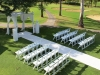 Gorgeous garden ceremony set-up