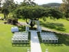 Stunning garden ceremony set-up styled by Beautiful Weddings